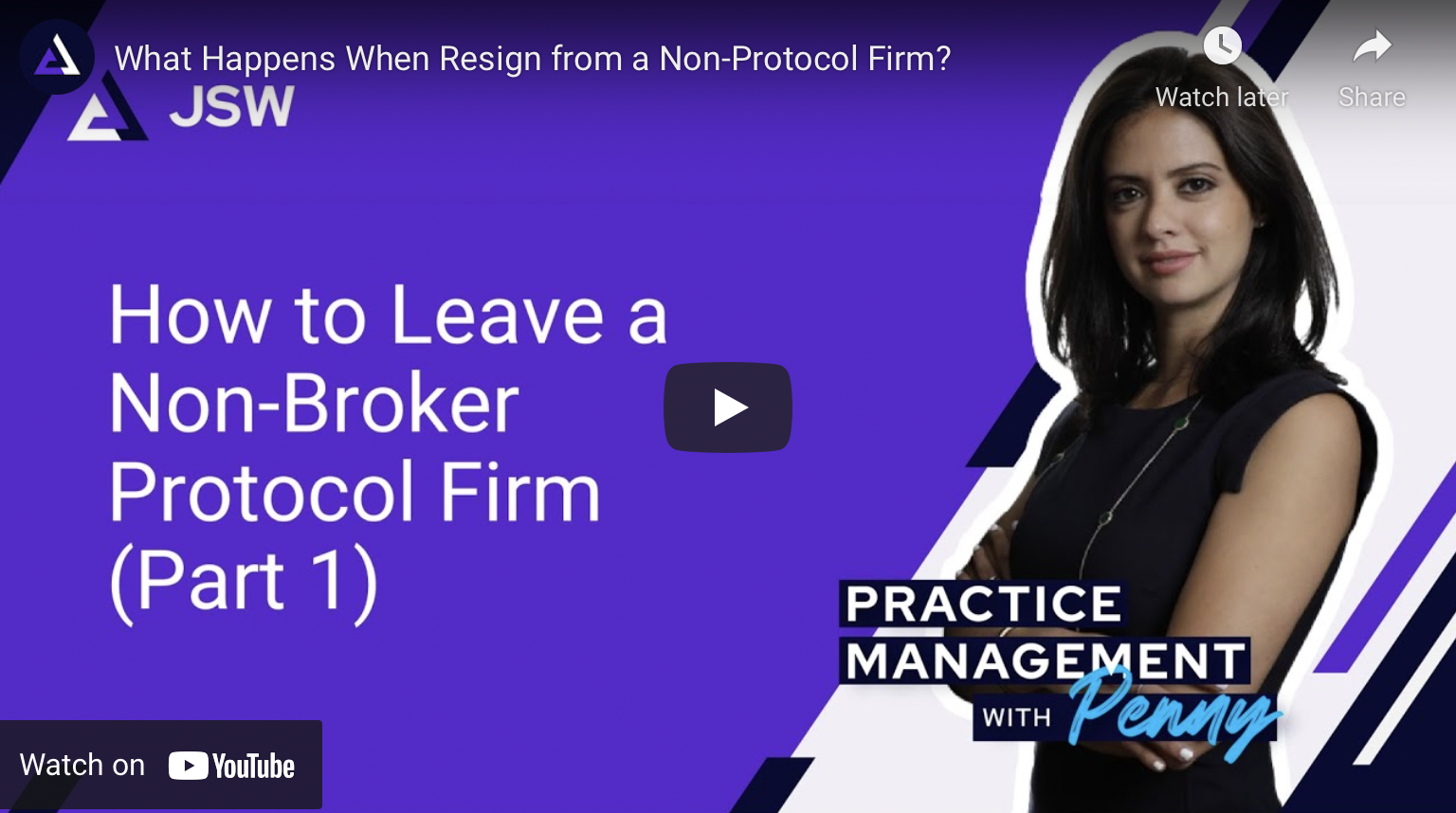 Resign From a Non-Broker Protocol Firm